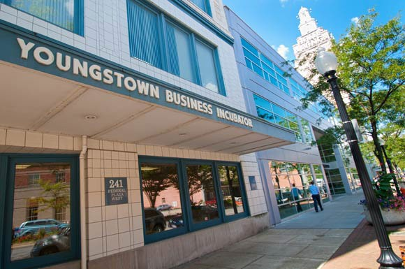 Front of the Youngstown Business Incubator